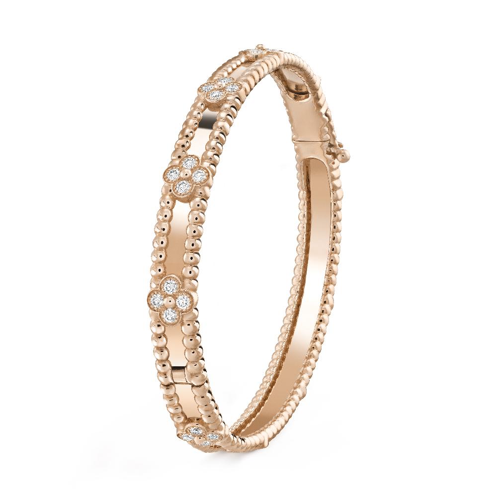「ペルレ スウィートクローバー」ブレスレット〈RG、ダイヤモンド〉¥1,808,400