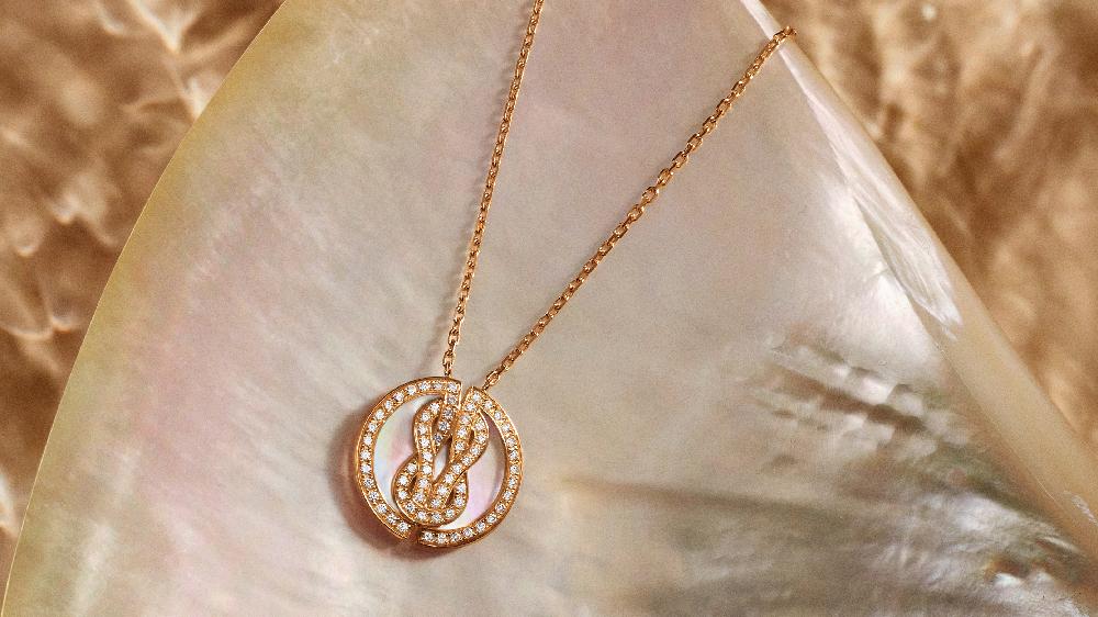 「ラッキーメダル」ブレスレット〈PG、ダイヤモンド、マザーオブパール〉¥539,000