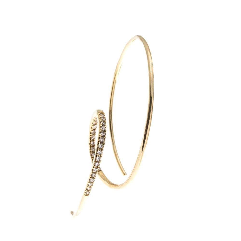 ピアス(18KYG×ダイヤモンド)¥160,000/マリア ブラック