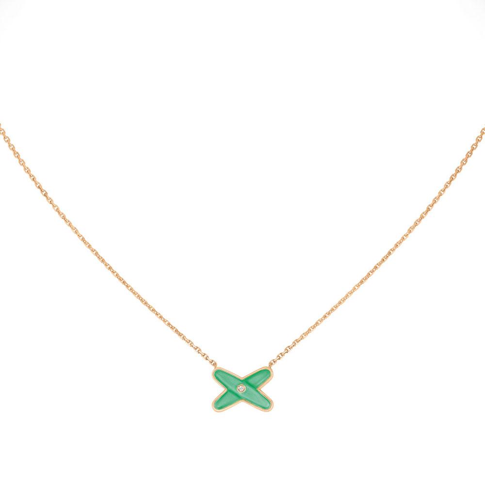 「リアン・ドゥ・ショーメ」ジュ・ドゥ・リアン ペンダント(PG×クリソプレーズ×ダイヤモンド)¥155,000