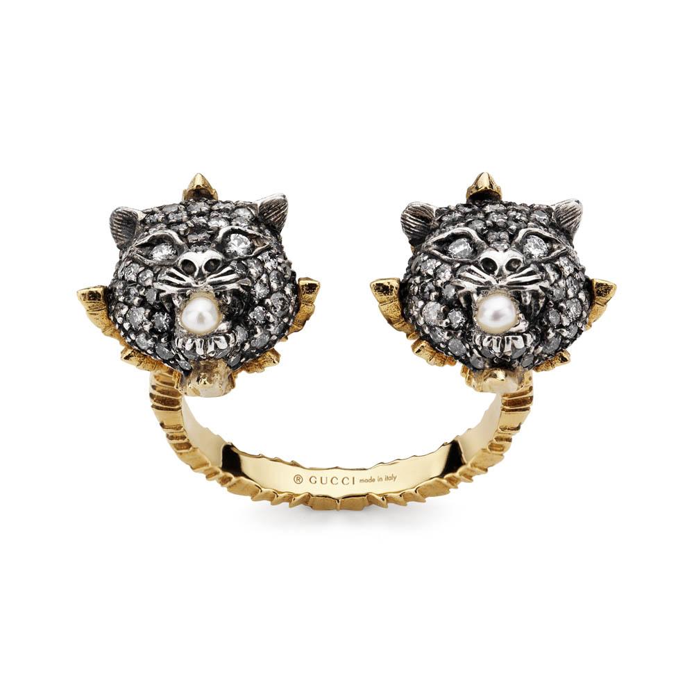 リング(18K YG×エイジドシルバー×ダイヤモンド×グレーダイヤモンド)¥369,000