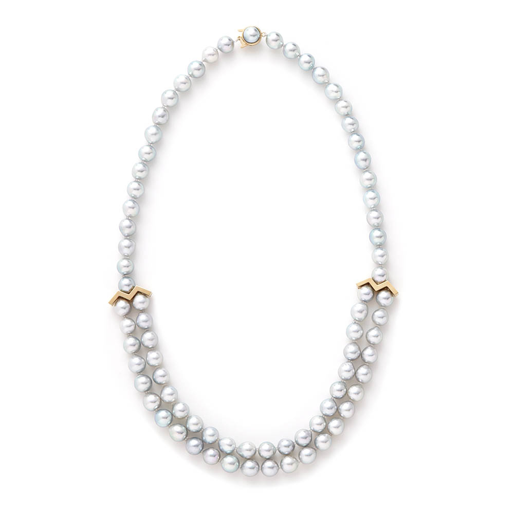"""M""ネックレス〈18KYG、アコヤ真珠〉¥530,000"