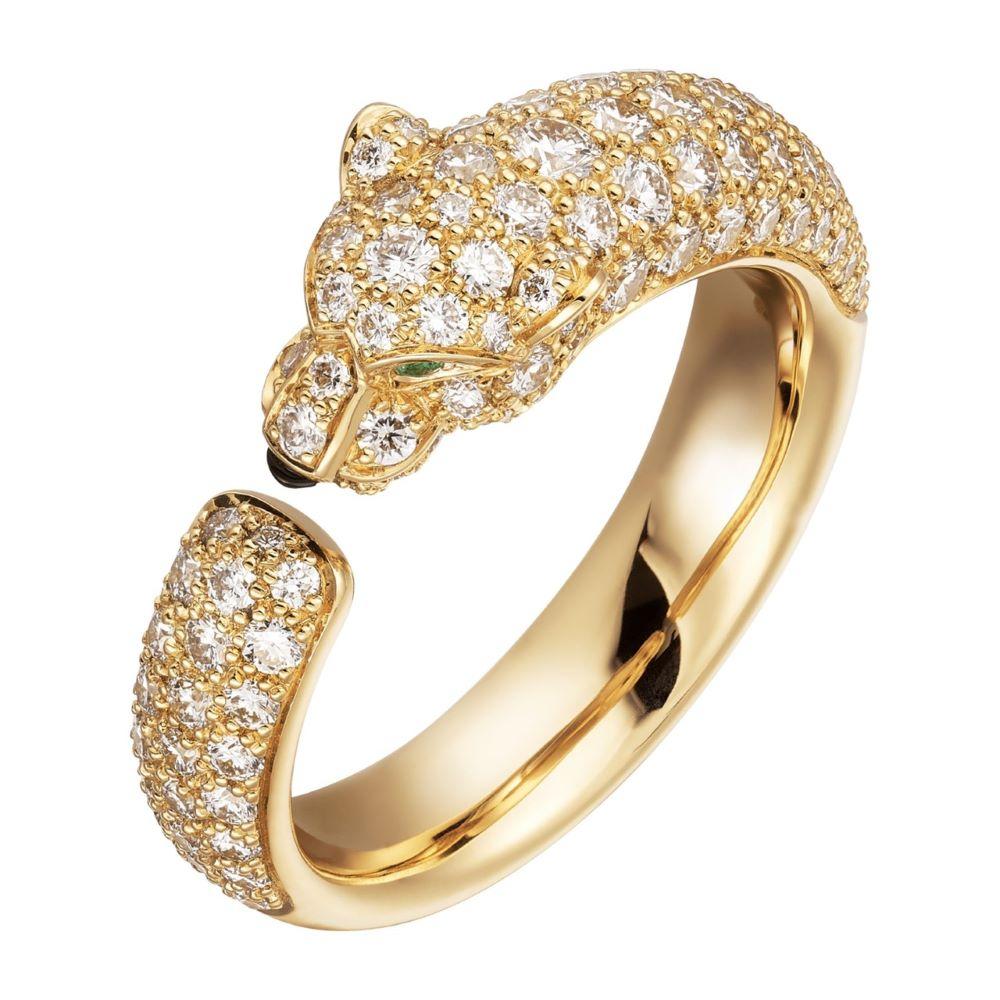 """""""パンテール ドゥ カルティエ""""リング〈YG、ダイヤモンド、エメラルド、オニキス〉¥1,368,000"""