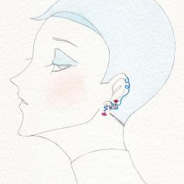 #61 エナメルとジェムストーンが織りなすアートな耳元【ベア・ ボンジャスカ】