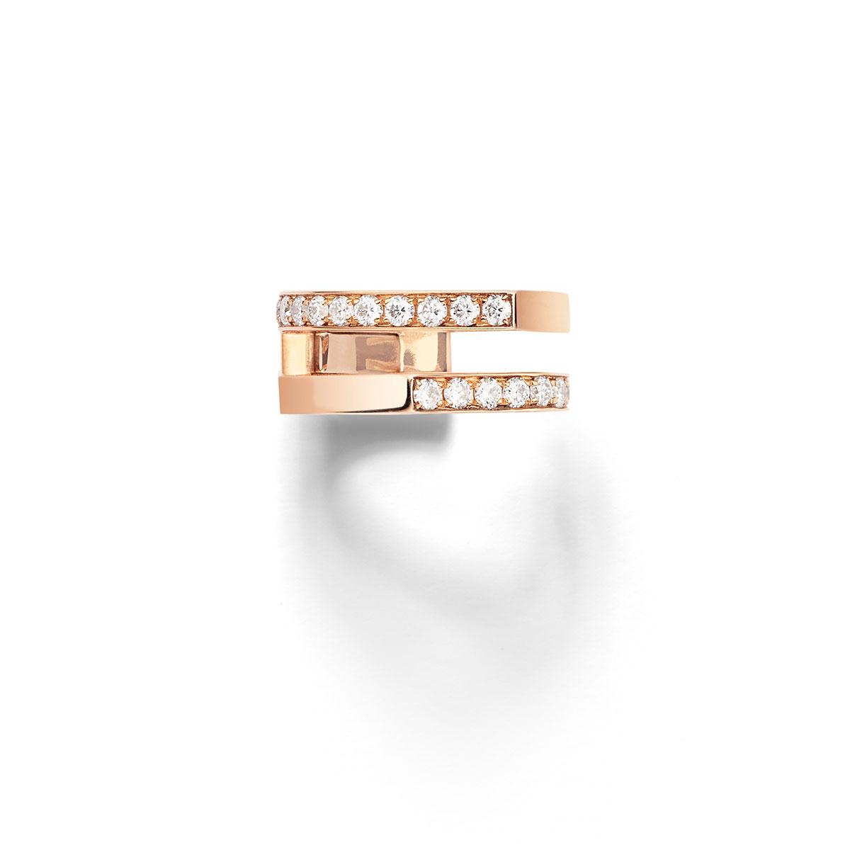 イヤカフ〈18KPG、ダイヤモンド〉¥291,600