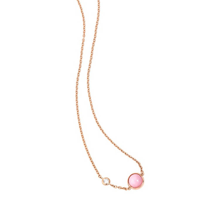 「ポセション」ペンダント(18KPG×ピンクオパール×ダイヤモンド)¥185,000 ※日本限定販売