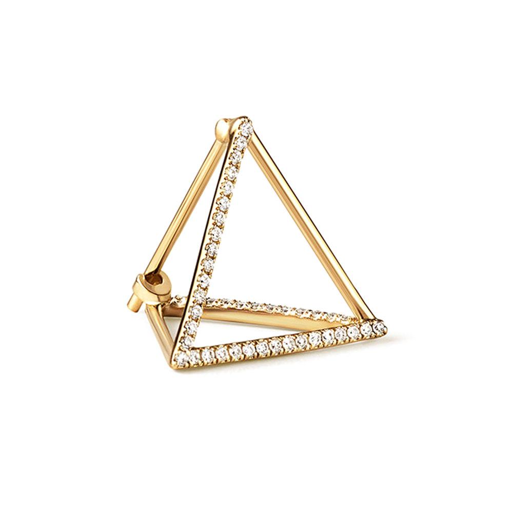 ピアス(18KYG×ダイヤモンド)¥140,000/シハラ