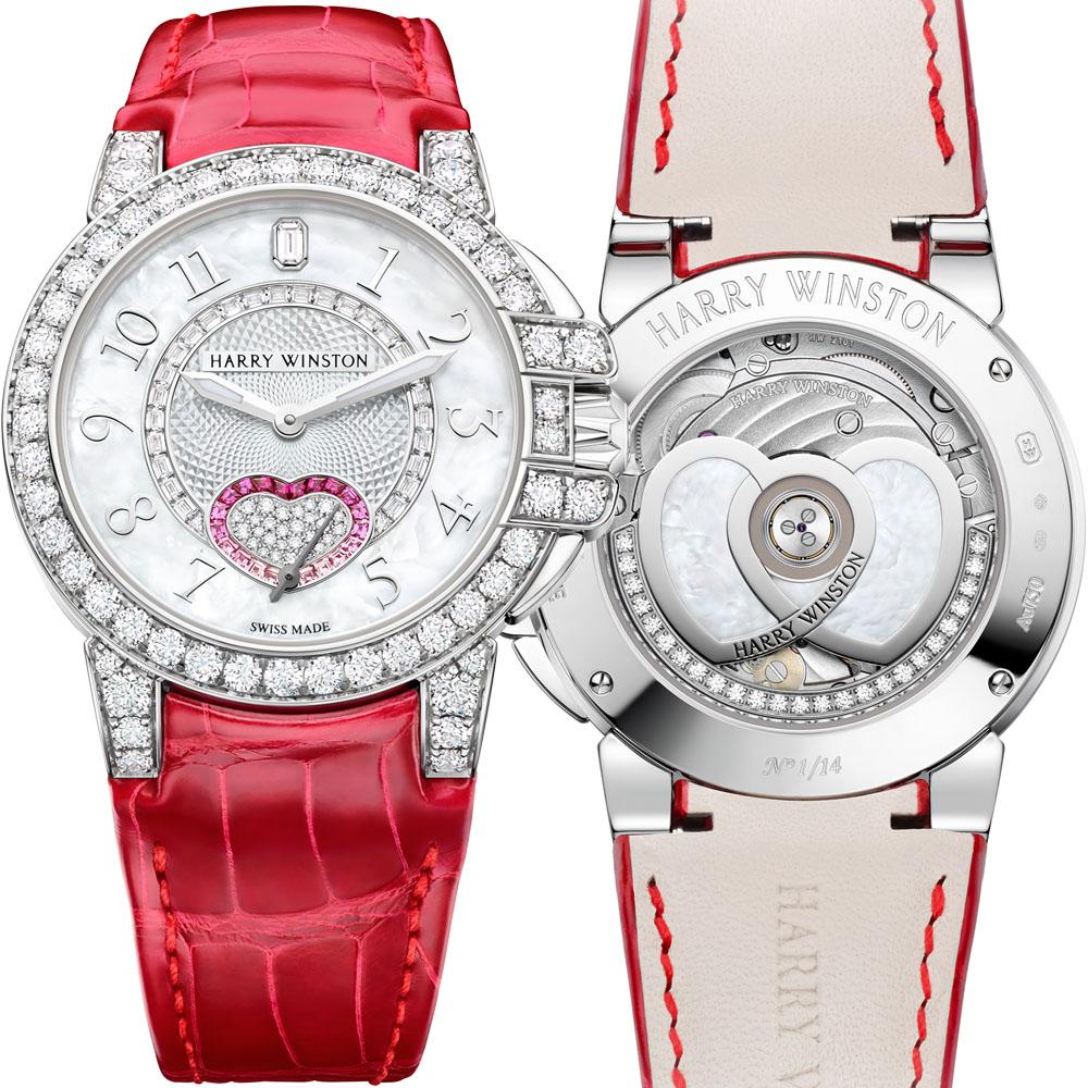 「HW オーシャン・バレンタインデー オートマティック 36mm」(18KWG×マザーオブパール×ダイヤモンド×ルビー×ピンクサファイア、自動巻き)¥7,250,000 ※直営店限定、世界14本限定