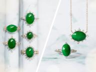 吸い込まれるようなグリーンの硬玉翡翠が主役。アベリから新作ジュエリーコレクションが登場