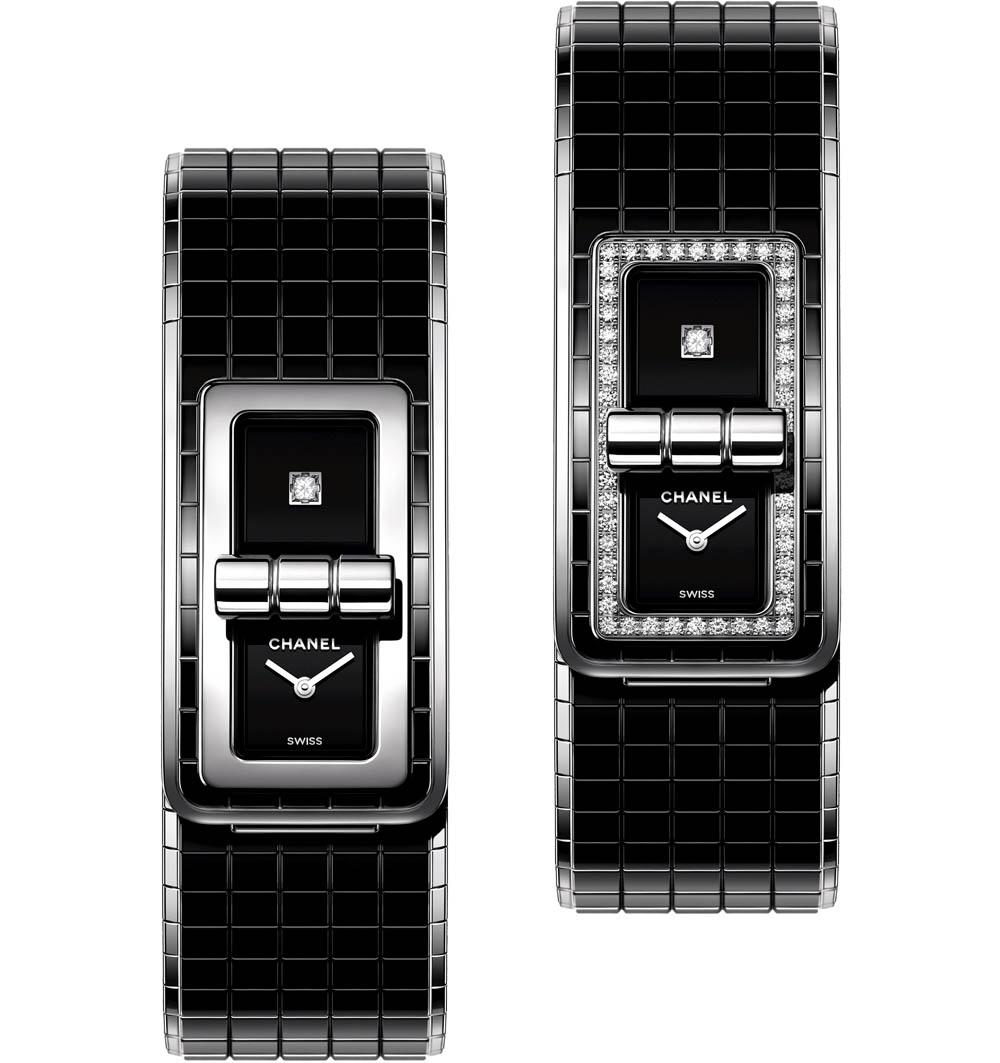 「コード ココ」(SS×ブラックセラミック×ダイヤ、クォーツ)¥732,500、同(SS×ブラックセラミック×ダイヤ、クォーツ)¥1,240,000