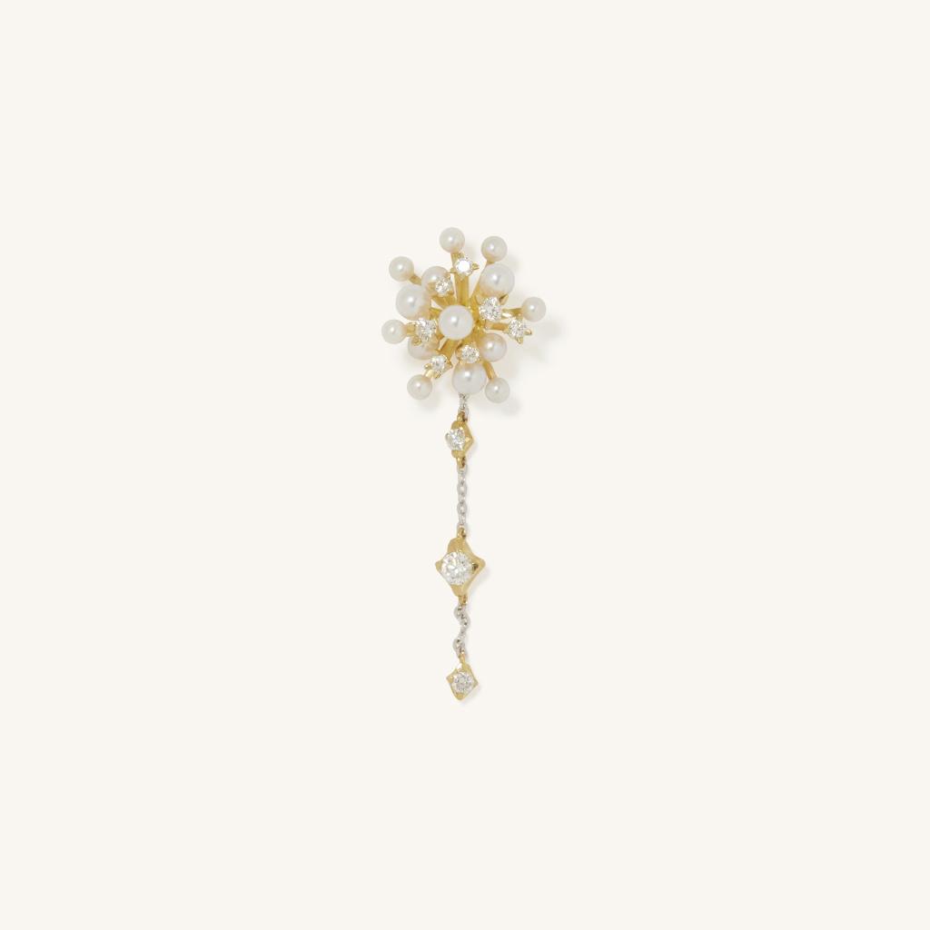 「花火」ピアス〈K18YG、ダイヤモンド、アコヤパール〉¥74,800