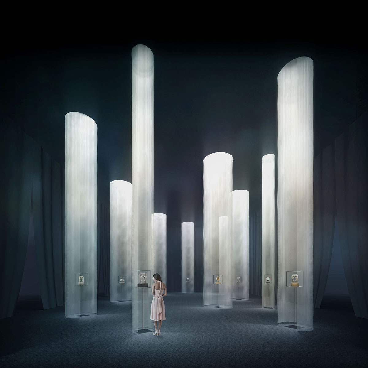 会場イメージ 序章「時の間」 新素材研究所 © N.M.R.L. / Hiroshi Sugimoto + Tomoyuki Sakakida