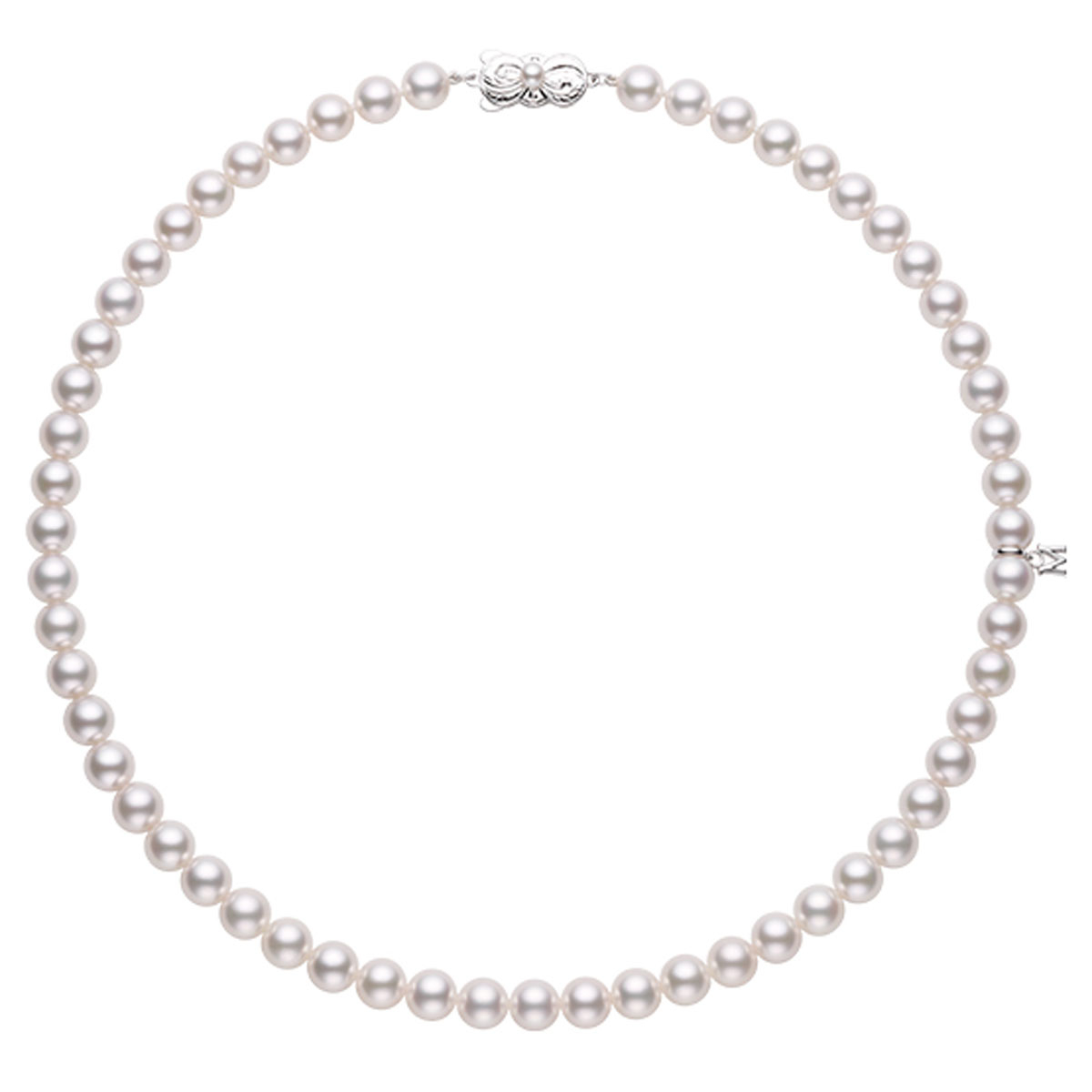 ネックレス 40cm〈WG、アコヤ真珠〉¥税抜き価格