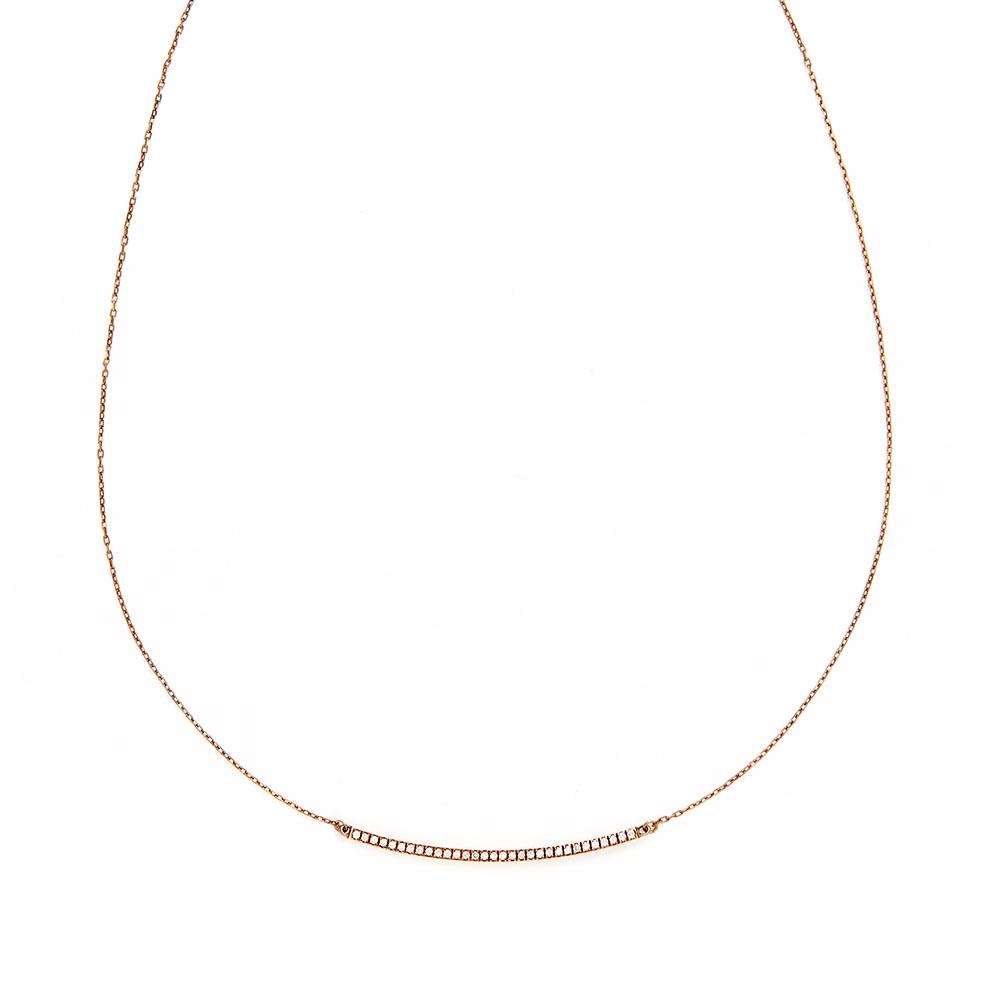 ネックレス(40cm)〈18KBG、ブラウンダイヤモンド〉¥136,000