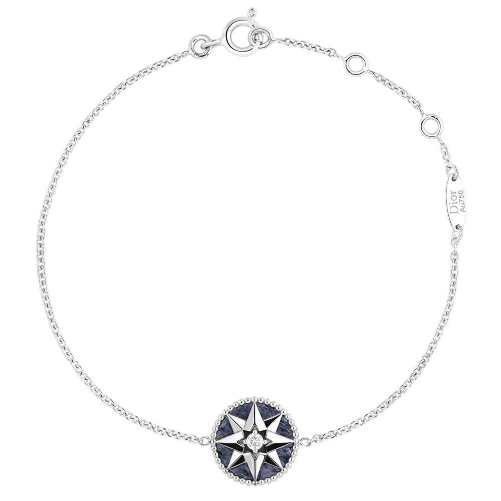 「ローズ デ ヴァン」ブレスレット(WG×アベンチュリン×ダイヤモンド)¥220,000