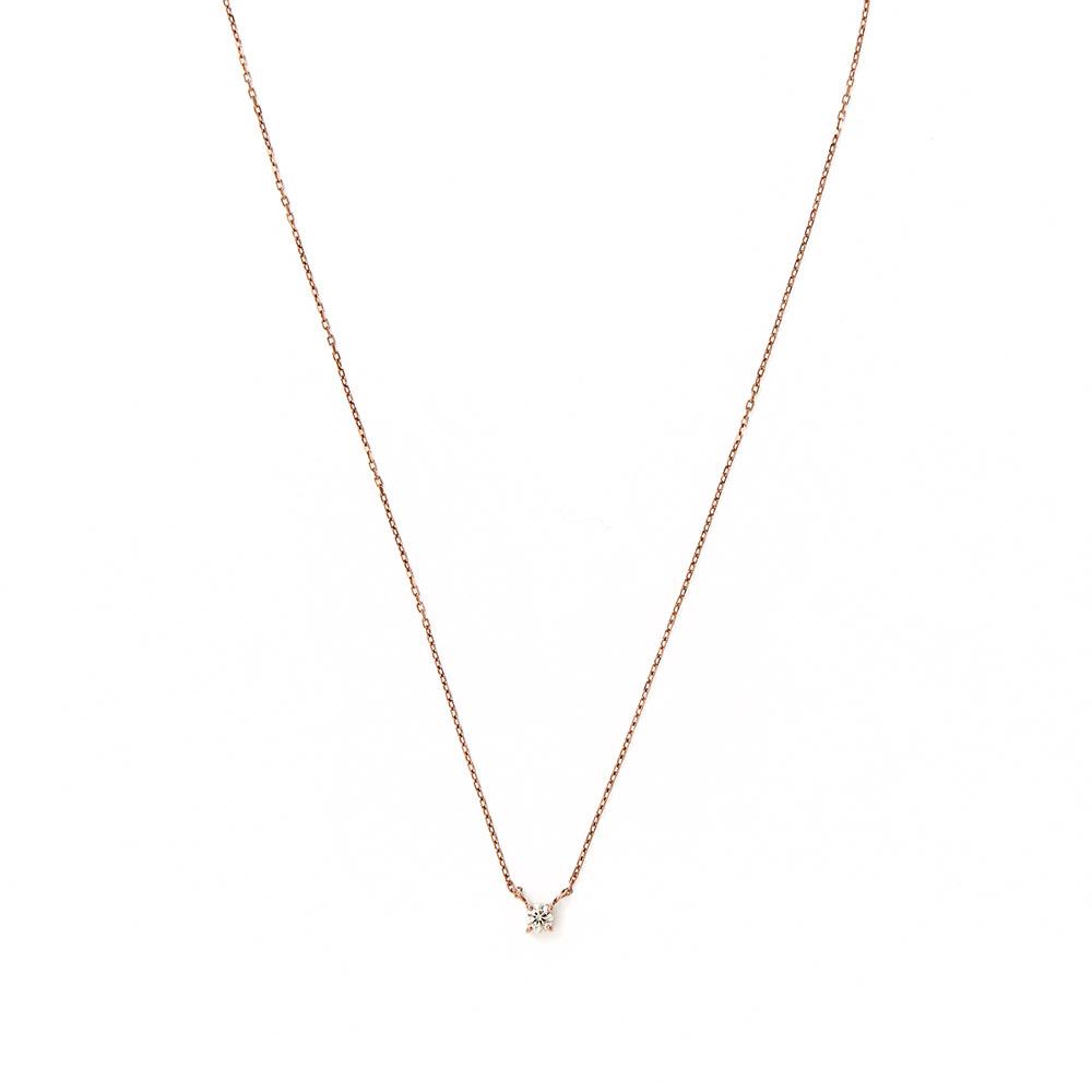 ネックレス(40cm)〈18KBG、ダイヤモンド〉¥89,000