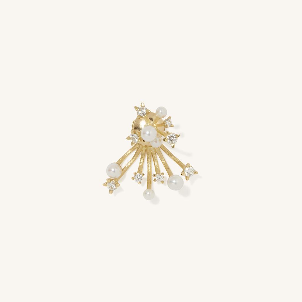 「花火」チャーム〈K18YG、ダイヤモンド、アコヤパール〉¥198,000
