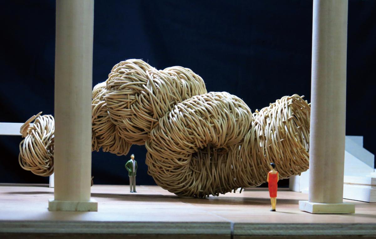 「作家名」ジョコ・アヴィアント 「画像名」横浜美術館グランドギャラリーで展示される作品のモックアップ