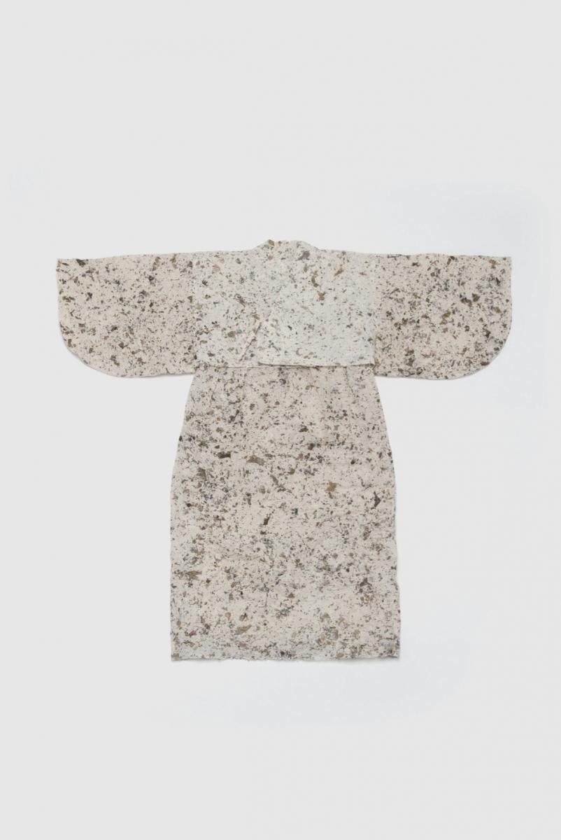 うみかみ紙衣 上衣 小浜海岸の海藻を漉き込んだ椿和紙 コズミックワンダー