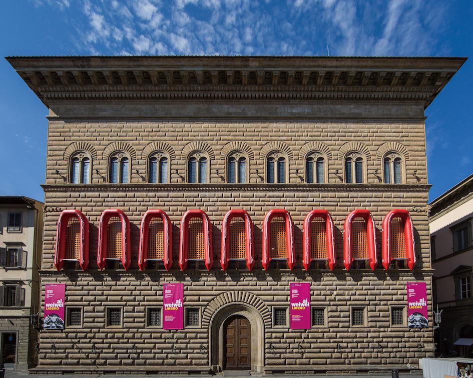 「作家名」アイ・ウェイウェイ(艾未未) 「作品名」《Reframe》2016 「クレジット」Exhibition view at Palazzo Strozzi, Photo: Alessandro Moggi ©Ai Weiwei Studio