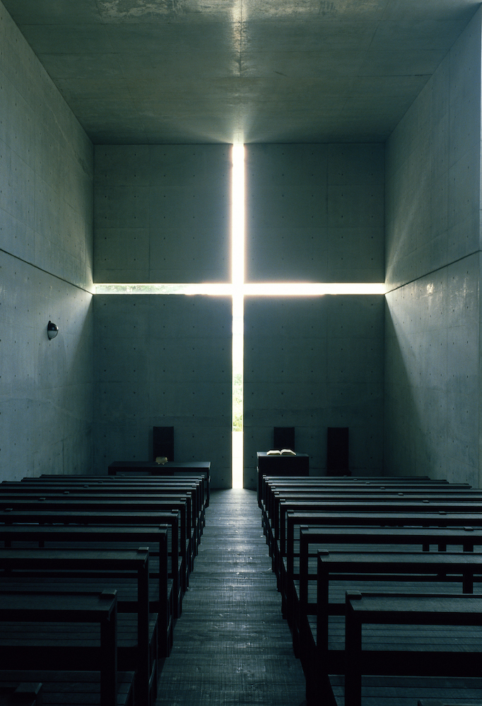 光の教会,1989年,大阪府茨木市 (撮影:松岡満男)