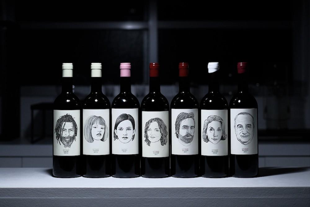 店頭で扱うオーストリアのワイナリー「Gut Oggau」のワイン各種。