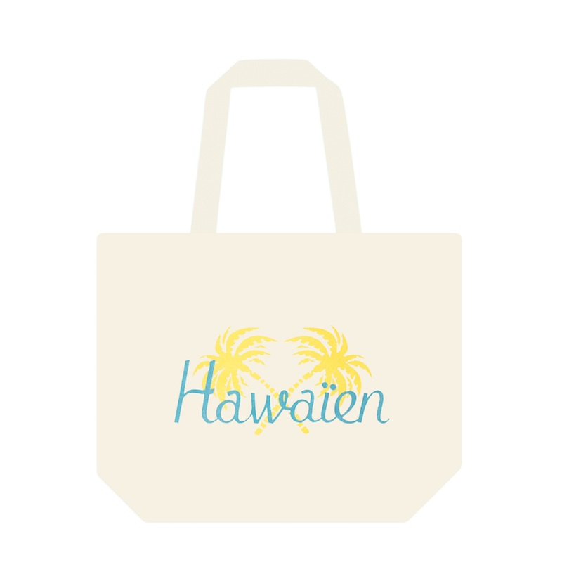 「HAWAIEN TOTE BAG IN COTTON」70$