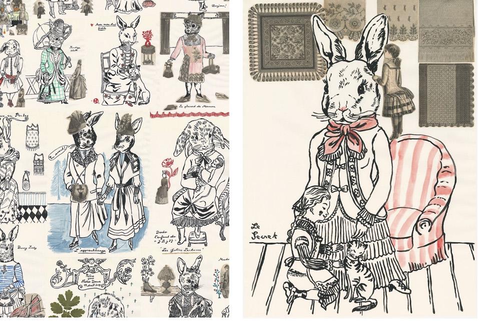 エイチ・ピー・デコでは10月10日(木)〜14日(月)、10月19日(土)〜27日(日)「アッシュペーブチック」にて、「ウサギ・プゥ・トワ アッシュ・ペー・フランス」の21年目の船出に合わせてナタリーが描き下ろした21枚の「usagi ningen(ウサギ人間)」の原画を展示・販売。