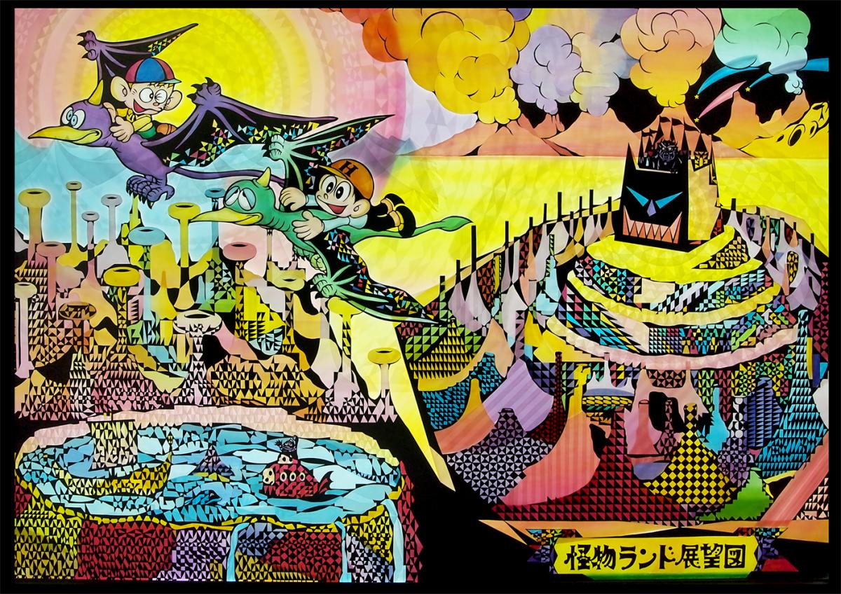 影絵アーティスト 河野里美氏とコラボレーションした『怪物くん』の影絵作品も展示。2018 ©satomi kono.