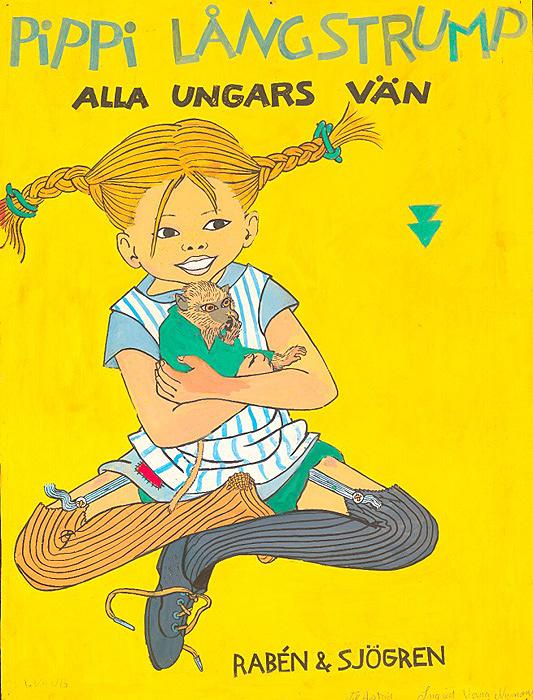 イングリッド・ヴァン・ニイマン「『長くつ下のピッピ』出版社用ポスター原画」1940年代後半 アストリッド・リンドグレーン社(スウェーデン)所蔵  Illustration Ingrid Vang Nyman ©The Astrid Lindgren Company. Courtesy of The Astrid Lindgren Company