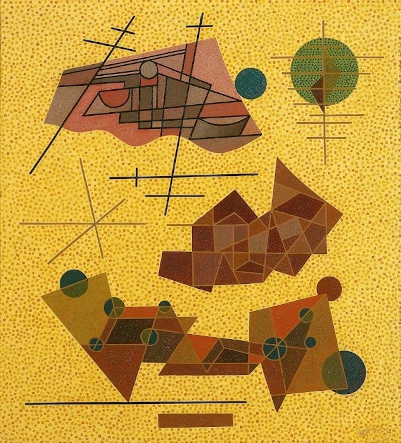 オットー・ネーベル 《輝く黄色の出来事》1937年、油彩・キャンヴァス、オットー・ネーベル財団
