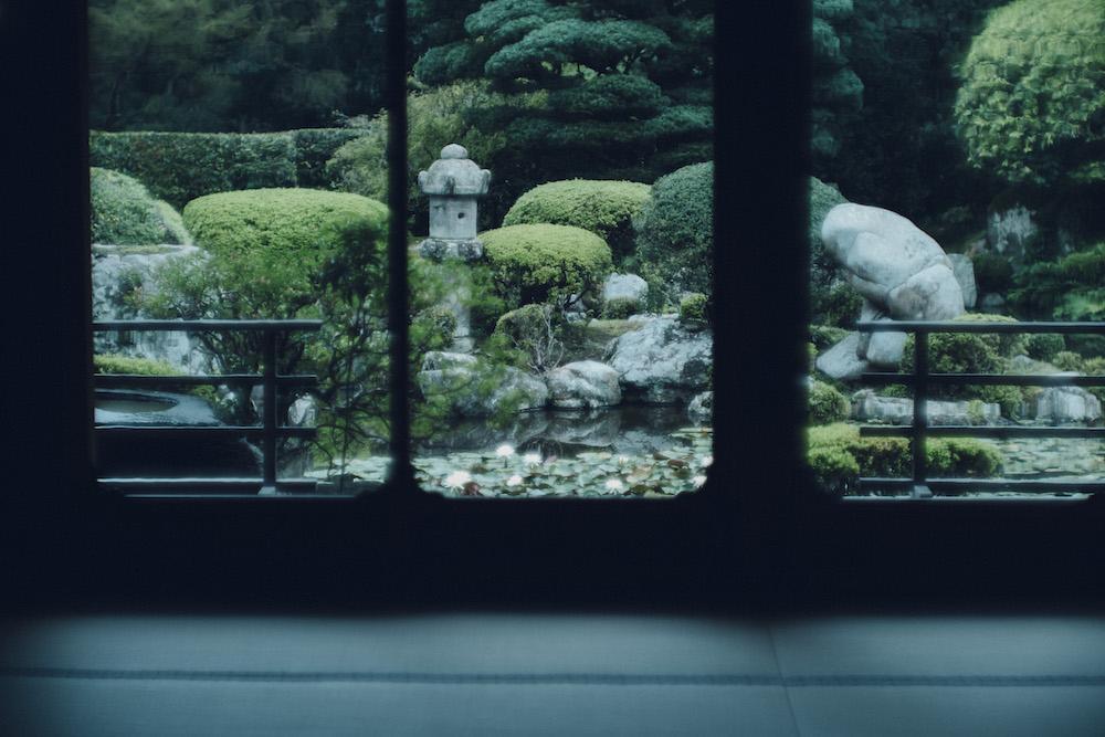 通常は非公開の「成就院」では、小堀遠州が手を加えたという美しい庭園をバックに、襖や長押を活かした作品展示を行う予定。