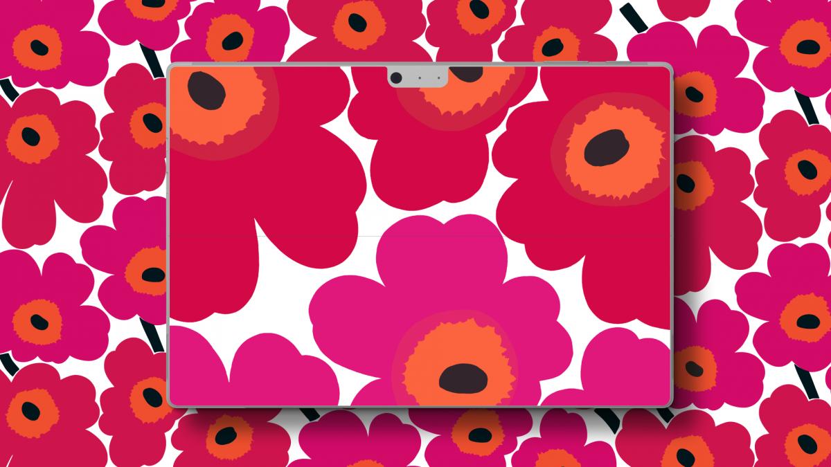 「Marimekko for Microsoft Surface Pro スキンシール」¥4,500(税込)※写真は「Unikko」