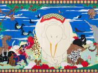 若冲や北斎の名作をカラフルなスイーツデコで表現! 「渡辺おさむ展 花鳥風月」大丸東京店で開催