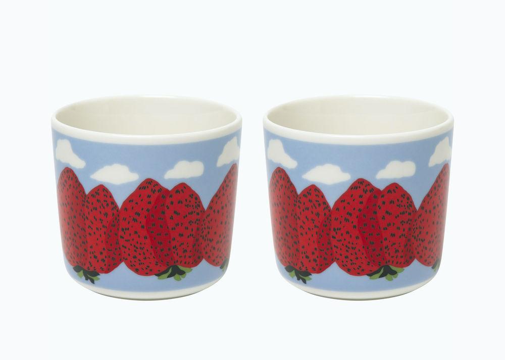 「Mansikkavuoret」コーヒーカップセット(ハンドルなし)¥5,500