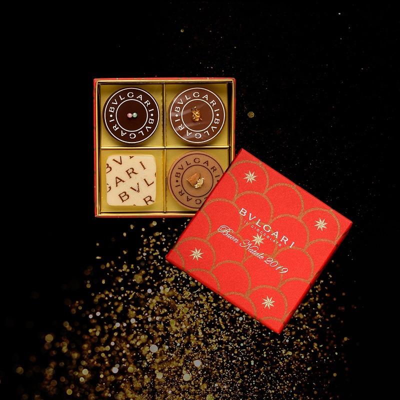 「ナターレ・ボックス2019(4個入)」(左上からパネットーネ、クロッカンテ、ビスコッティ、トローネ)¥4,444 ※売り切れ次第販売終了
