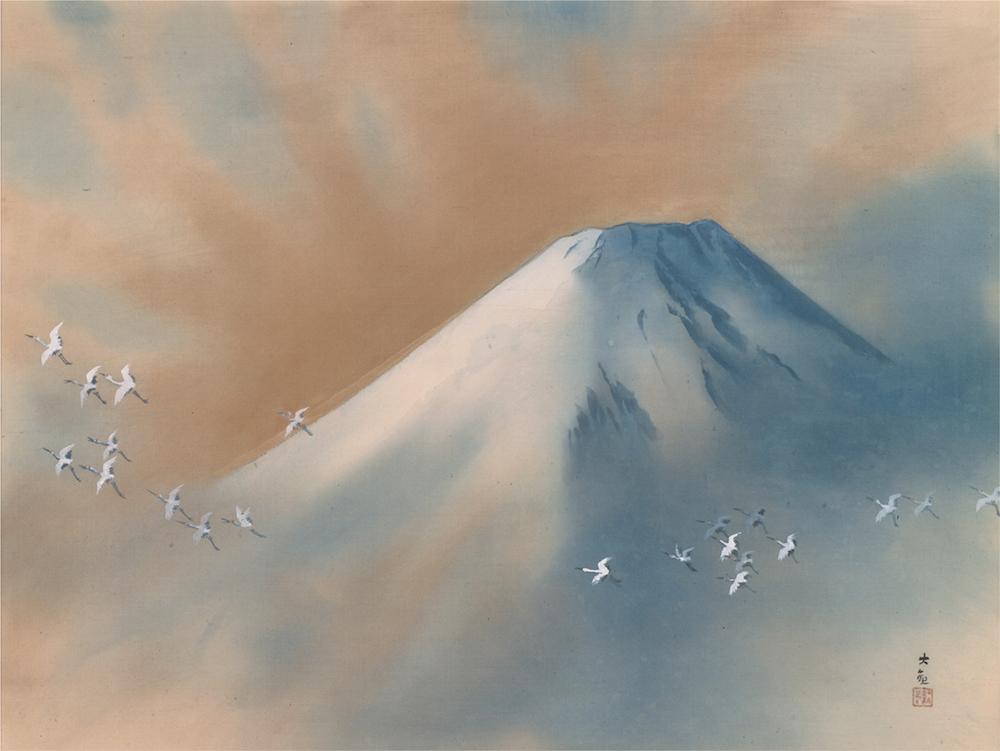 「霊峰飛鶴」横山大観 昭和28年(1953年)