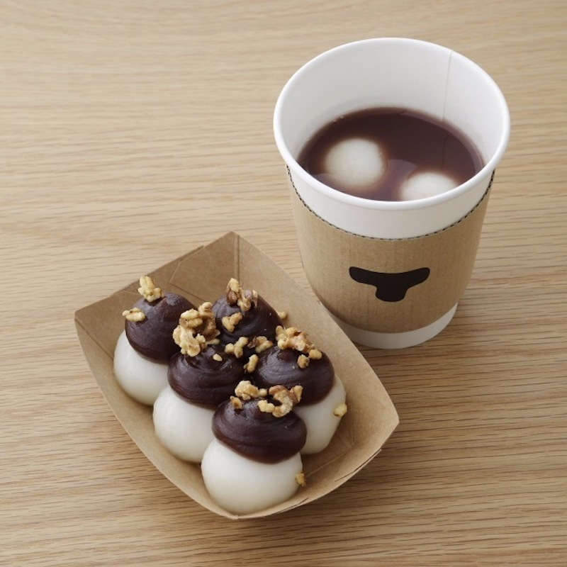 「あんペーストと白玉餅」5個入り ¥600、3個入り ¥400