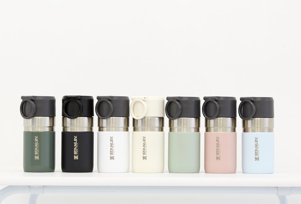「ゴーシリーズ真空ボトル(0.28L)」(グリーン、マットブラック、ホワイト、ミントグリーン、ピーチピンク、ペールブルー)¥3,850