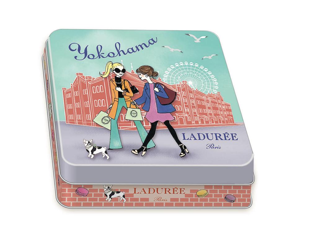 サブレボックス「パリジェンヌ in Yokohama」(ナンテ、ヴィエノワ、ショコラ・ノワゼット、 ノワゼット/計12枚入)¥2,200 ※ラデュレ 横浜 髙島屋店にて限定販売