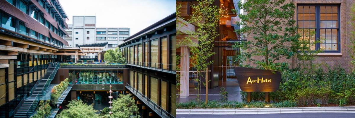 緑あふれるエースホテル京都。