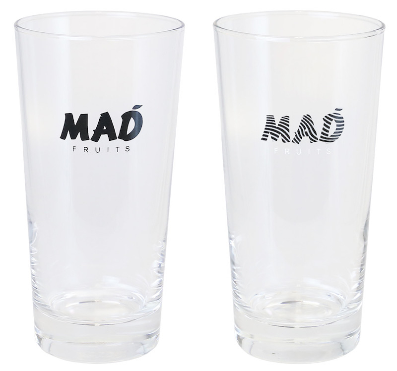「Logo Tall Glass」(black/graphic)各¥2,100