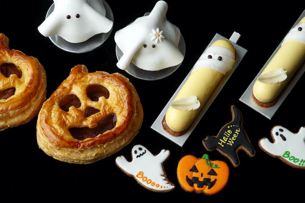 上「ファントム」¥600、左「パンプキン パイ」¥700、右「ポティロン」¥650、下「ハロウィン クッキー」¥350