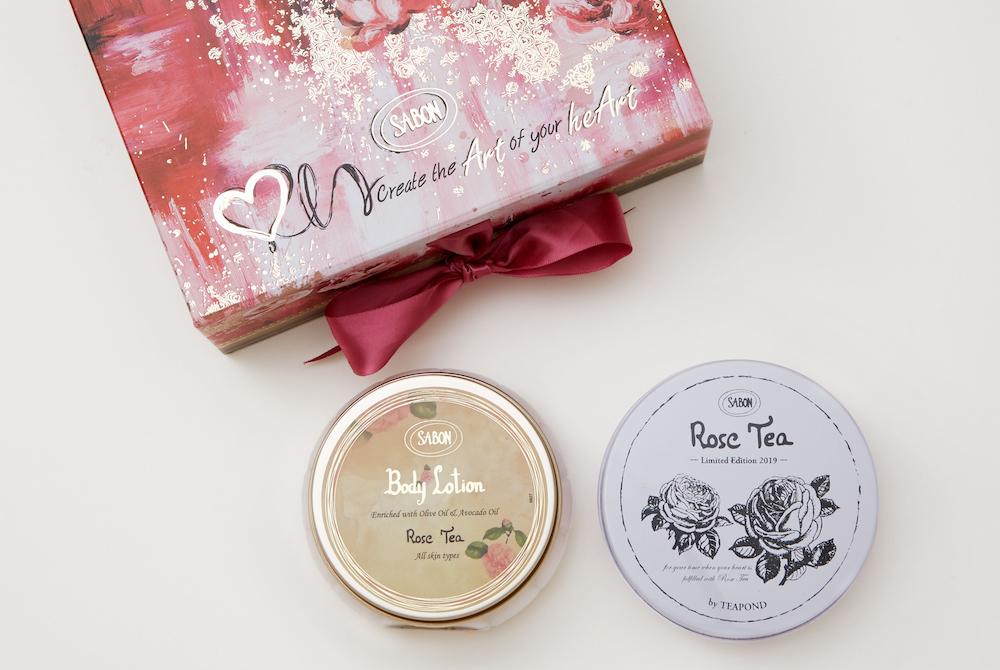 数量・販売店舗限定「Rose Tea Time」(SABONオリジナルフレーバーティー+ボディローション ローズティー ミニ)¥1,800