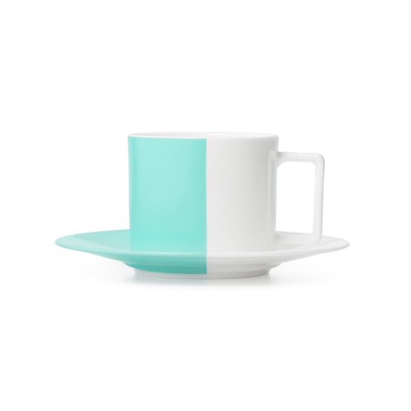 「カラーブロック ティーカップ&ソーサー」¥10,500
