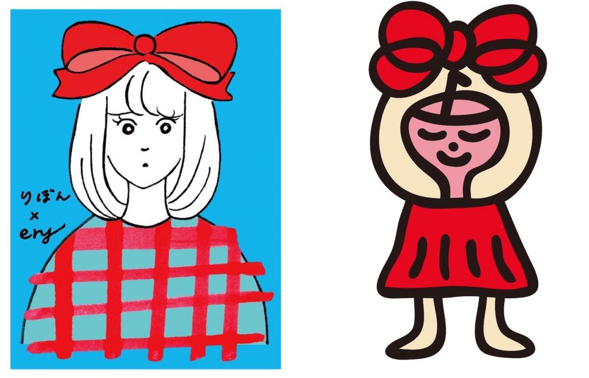 左はイラストレーターのery、右はペインターの西雄大によるデザイン。「ステッカー」¥350©SHUEISHA