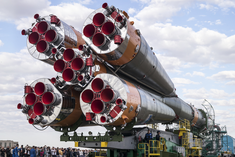 ロシアの誇るソユーズロケット。