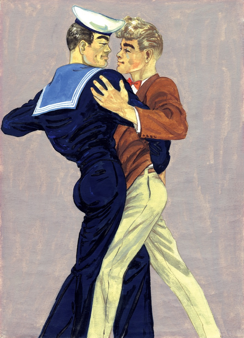 TOM OF FINLAND (Finnish, 1920-1991), Tom's Finnish Tango, 1947, Graphite paper, 11.38 in. x 8.13 in., Tom of Finland Foundation permanent collection, © 1947 - 2020 Tom of Finland Foundation
