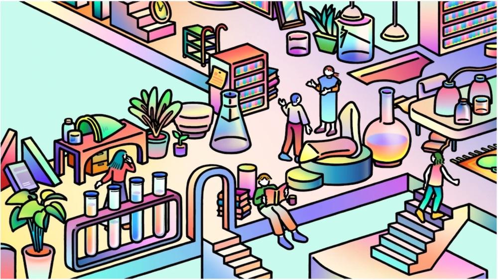 メインヴィジュアルはイラストレーターのmillitsukaによるもの。、「あなたのタブーをワクワクに変える『フェムテック交差点』」をテーマに、熱の高い「ヒト」と「モノ」が出会い化学反応が生まれる「自己理解の実験室」を表現している。