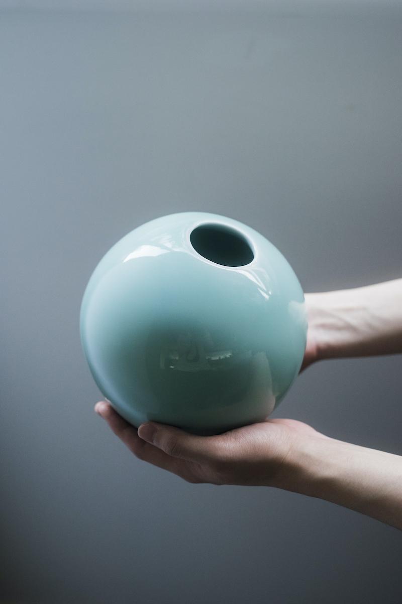 「鍋島虎仙窯 青磁 L」(約Φ165mm)¥15,000